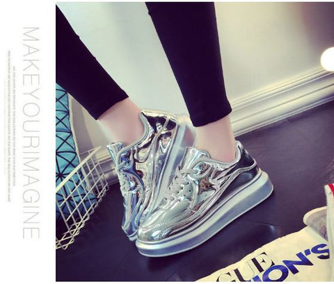 Shiny platform shoes for her - Buyvel