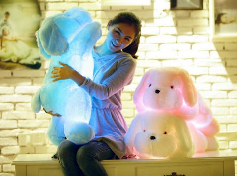 Color changing Led Light Dog Soft Plush Toy Soft Toys- Available online on Buyvel