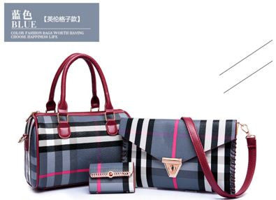 Popular brand  Burb*y Style Set Bag Blue Set Bags- Available online on Buyvel