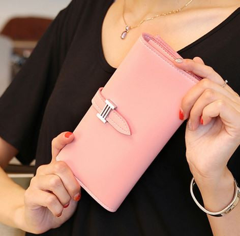 Herm*s 2016 Trendy Wallet Cum Clutch in 10 Beautiful Colors Baby Pink Wallets & Clutches- Available online on Buyvel