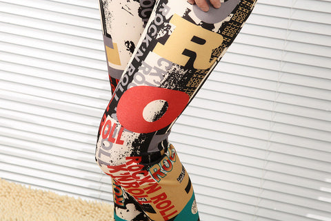 Soft & Silky Alphabet Printed Leggings Leggings & Jeggings- Available online on Buyvel