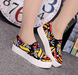 Canvas Graffiti  Ladies'  Shoes Yellow Women's Footwear- Available online on Buyvel
