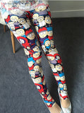 Cartoon Printed Ice Silk Leggings Pink Leggings & Jeggings- Available online on Buyvel
