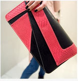 Ladies Geometric Design Bright Color Clutches Black Wallets & Clutches- Available online on Buyvel