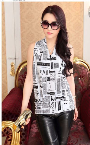 Cool, Ice Silk, Stylish Sleeveless Top in Contemporary pattern - Buyvel