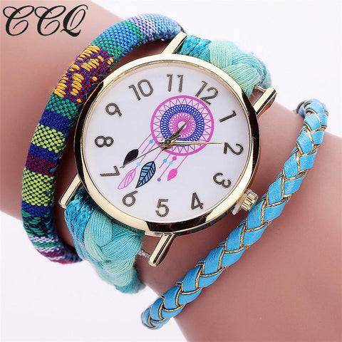 CCQ Brand Handmade Braided Women Dreamcatcher Watch Fashion Rope