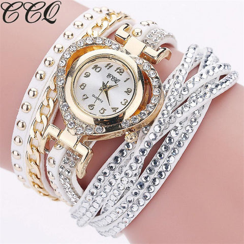 CCQ Brand Luxury Fashion Full Crystal Watch