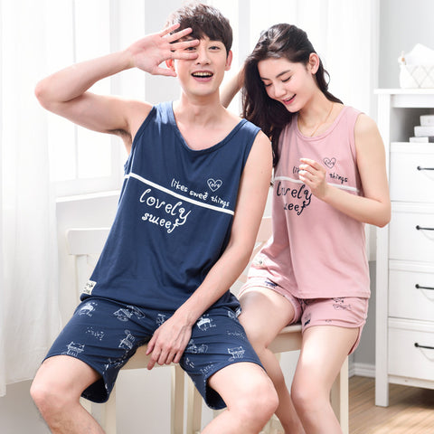 Casual Couple Pajama Sets Night Suit