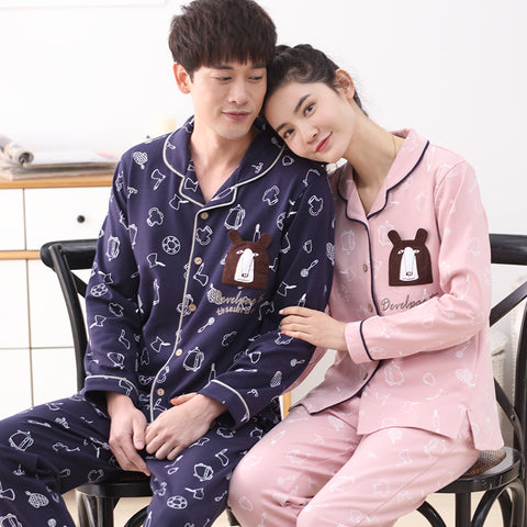 Night Suit Set Couple 100% Cotton Home Clothing