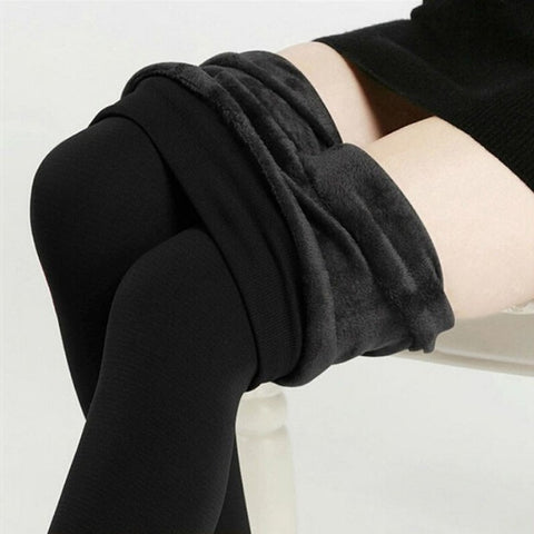 inside Thicken Fur Warm Leggings winter fleece velvet legging - Available online on Buyvel
