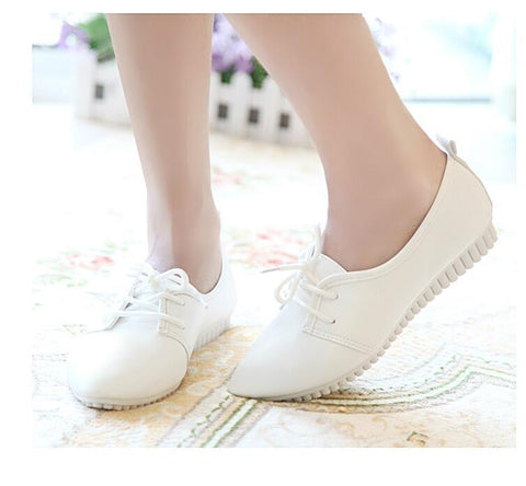 Flat Doudou Lace-Up Shoes