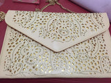 Cutwork Envelop & Clutches Off White Wallets & Clutches- Available online on Buyvel