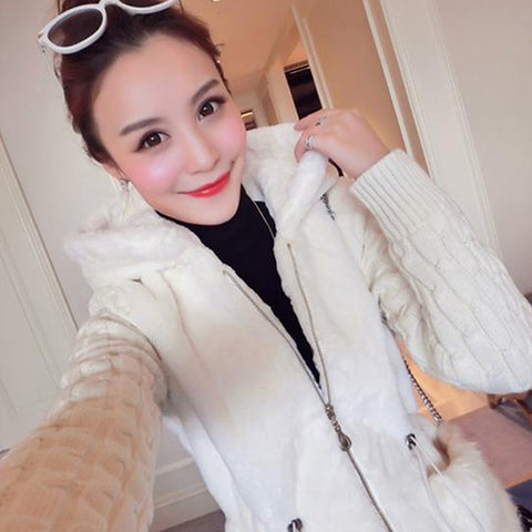 Autumn and Winter Classic Fashion Knitting Splice Jacket Winter Wear- Buyvel