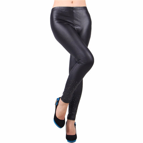 Fashion  Black Leather Leggings - Available online on Buyvel