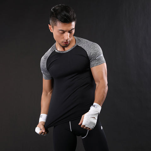Crossfit Black and White O-Neck Tee
