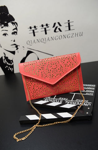 Cutwork Envelop & Clutches Red Wallets & Clutches- Buyvel