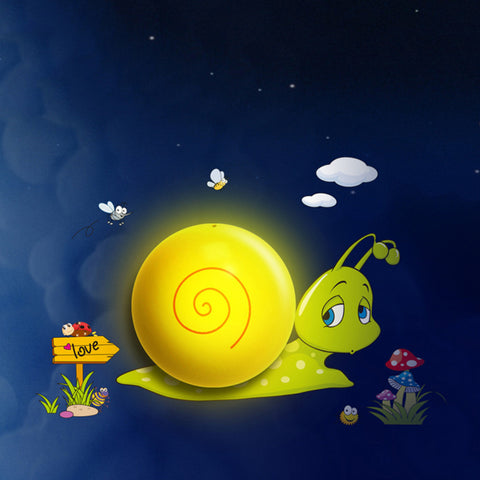 LED Night light Snail Cartoon 3D DIY Wall Sticker Lamp Sensor Controller Electronic toys- Buyvel