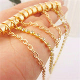 Trendy Three Layered Heel Anklet from Buyvel Bracelets & Anklets- Available online on Buyvel
