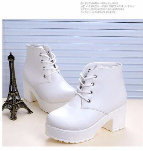 Rubber Style Women Boots