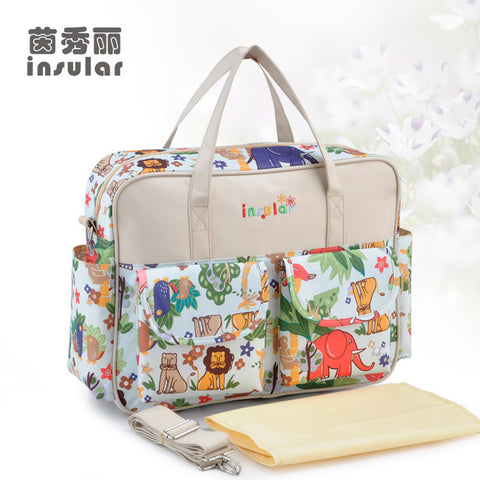 Baby Diaper Bags for Mom Funky Prints,Waterproof & Multi-functional Kitty Bags- Buyvel
