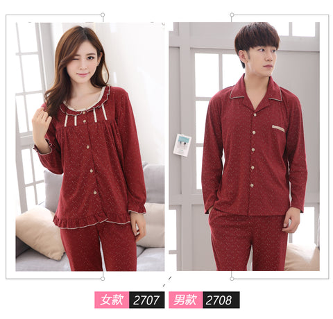 8107c97c5a 100% Cotton Couple Polka Dot Night Suit Set Turn-down Collar hot sale  online  MH-RITA Plus Size Xxxl Pajamas Sets For Women Autumn And Winter ...