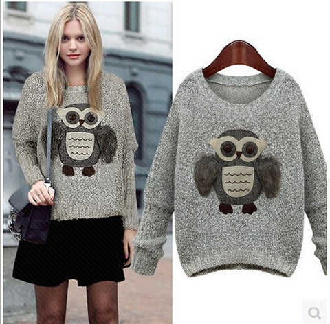 3D Owl Sweater Winter Wear- Buyvel