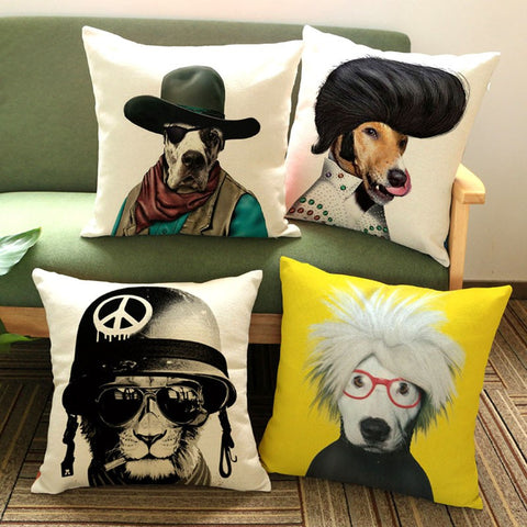 Cushion Covers Highlighter - DOG CAT   45cmX45cm Cushions & Covers- Buyvel