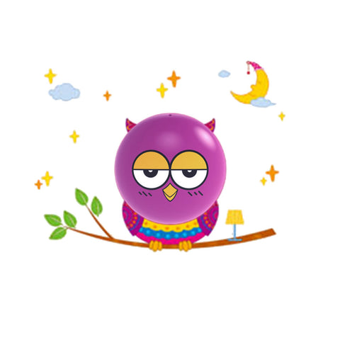 LED Night light Owl Cartoon 3D DIY Wall Sticker Lamp Sensor Controller Electronic toys- Buyvel