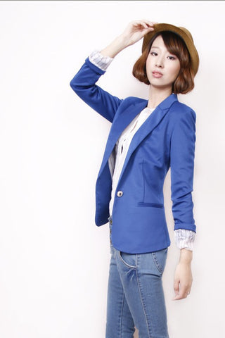"All Season Blazers with ""Turn Up Sleeves"" - BLUE Blazers- Available online on Buyvel"