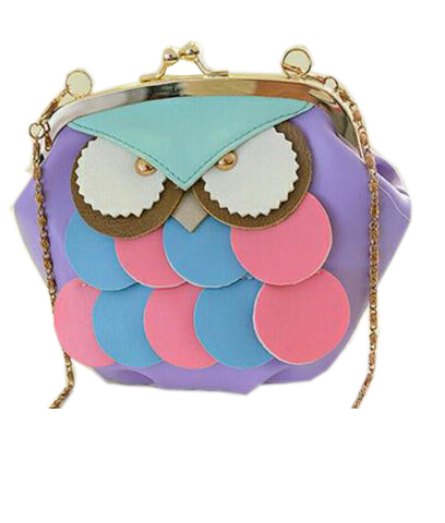 OWL Clutch Sling in Pastel Color Purple Handbags- Available online on Buyvel