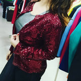 Sequin Jacket Red Color