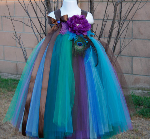 Peacock Style TUTU Dress Girl's dresess- Available online on Buyvel