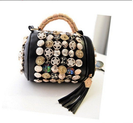 Button Round Fancy Bag - Buyvel