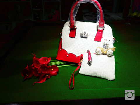 Teddy Bags Red Handbags- Available online on Buyvel