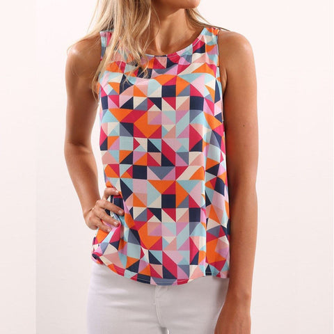 New Diamond Print Fitness Casual Tops