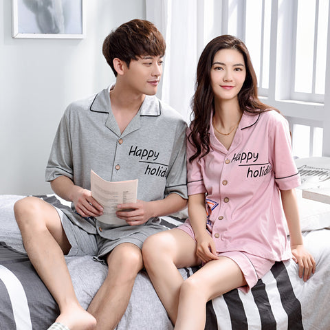 New Fashion Summer Men and Women Lovers Couple Night Suit