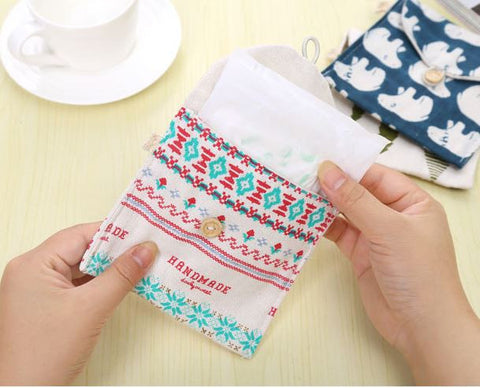 Carevel Sanitary Pad Pouches Sanitary Pad Holder- Available online on Buyvel