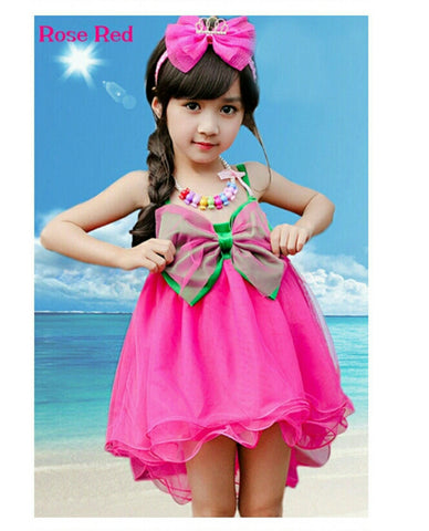 Ball Gown Butterfly Sleeveless Fancy Baby Dress Girl's dresess- Buyvel