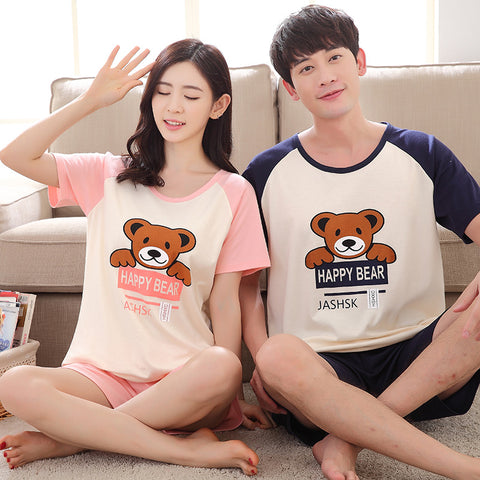 Couple Night Suits With Shorts Fashion  Sleepwear Homewear