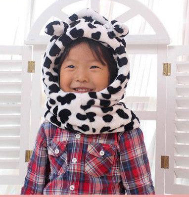 Children Winter Cap White Winter Wear- Available online on Buyvel