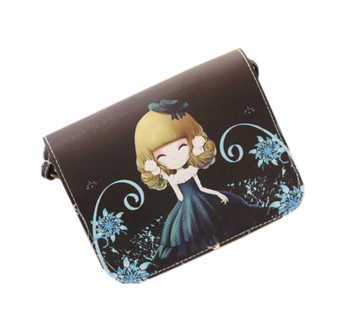 Adorable Girl Digital Print Sling Blue Sling bags- Buyvel