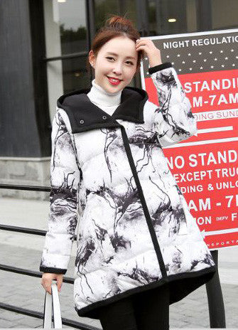 Double Sided Long Jacket For Women White Winter Wear- Available online on Buyvel