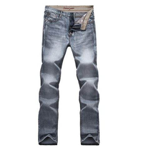 Grey Straight Fit Jeans- Available online on Buyvel