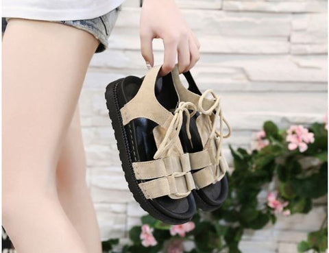 Open Toed Cross Straps Sandals