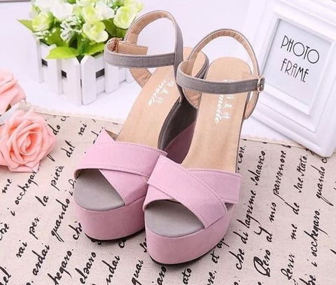 South Korean Wedges Sandals High Rise Sexy Women's Footwear- Available online on Buyvel