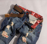 Popular brand Distressed Ver*ace jeans Jeans- Available online on Buyvel