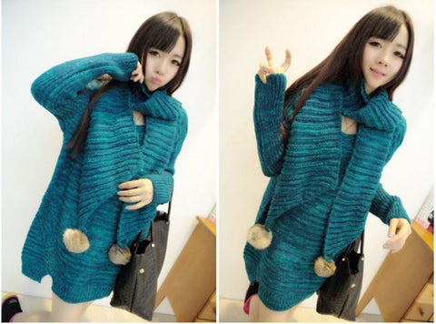 Designer Sweater With Scarf Winter Wear- Available online on Buyvel