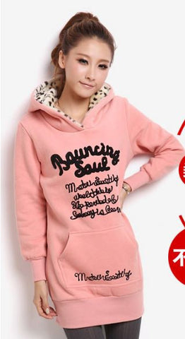 Korean Hoodie PINK Winter Wear- Available online on Buyvel