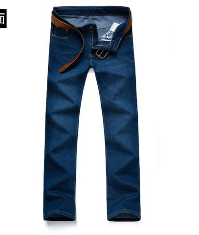 Straight fit streachable dark blue jeans Jeans- Available online on Buyvel