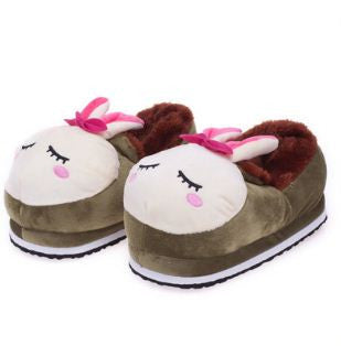 Winter Slippers Green Rabbit Winter Wear- Available online on Buyvel